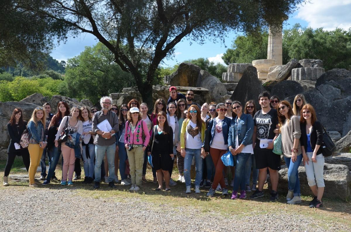Αρχαία Ολυμπία. Εκπαιδευτική εκδρομή με τους φοιτητές του ΙΑΚΑ, 2014.