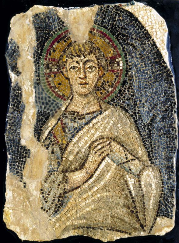 Ο Χριστός. Ψηφιδωτό από τον ναό της Παναγίας της Κανακαριάς. Λυθράγκωμη- Καρπασίας (φωτ. ΑΠΕ-ΜΠΕ / Βυζαντινό Μουσείο Ιδρύματος Αρχιεπισκόπου Μακαρίου Γ΄).