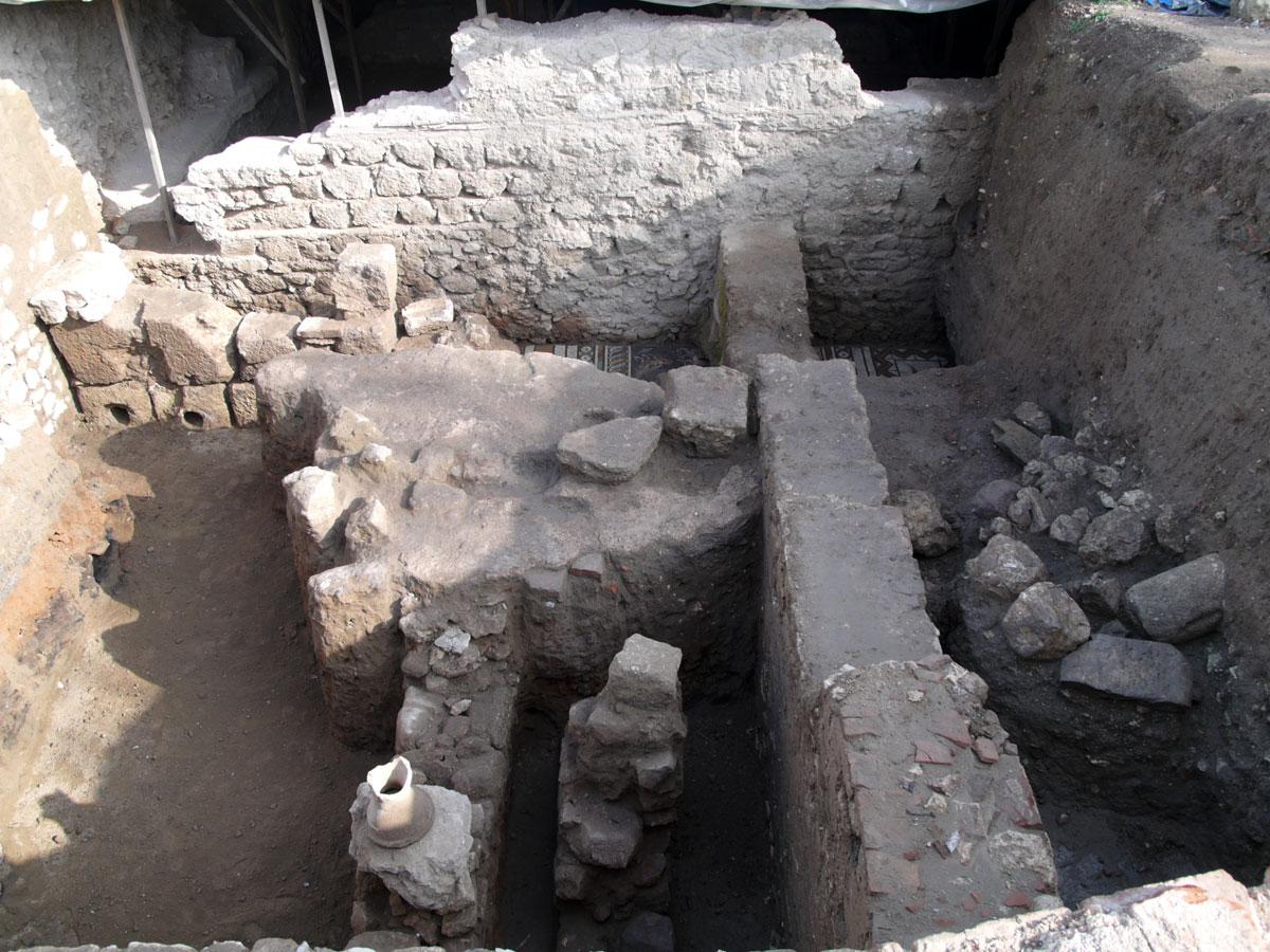 Εικ. 37. Η δευτερογενής χρήση του χώρου κατά την παλαιοχριστιανική περίοδο.