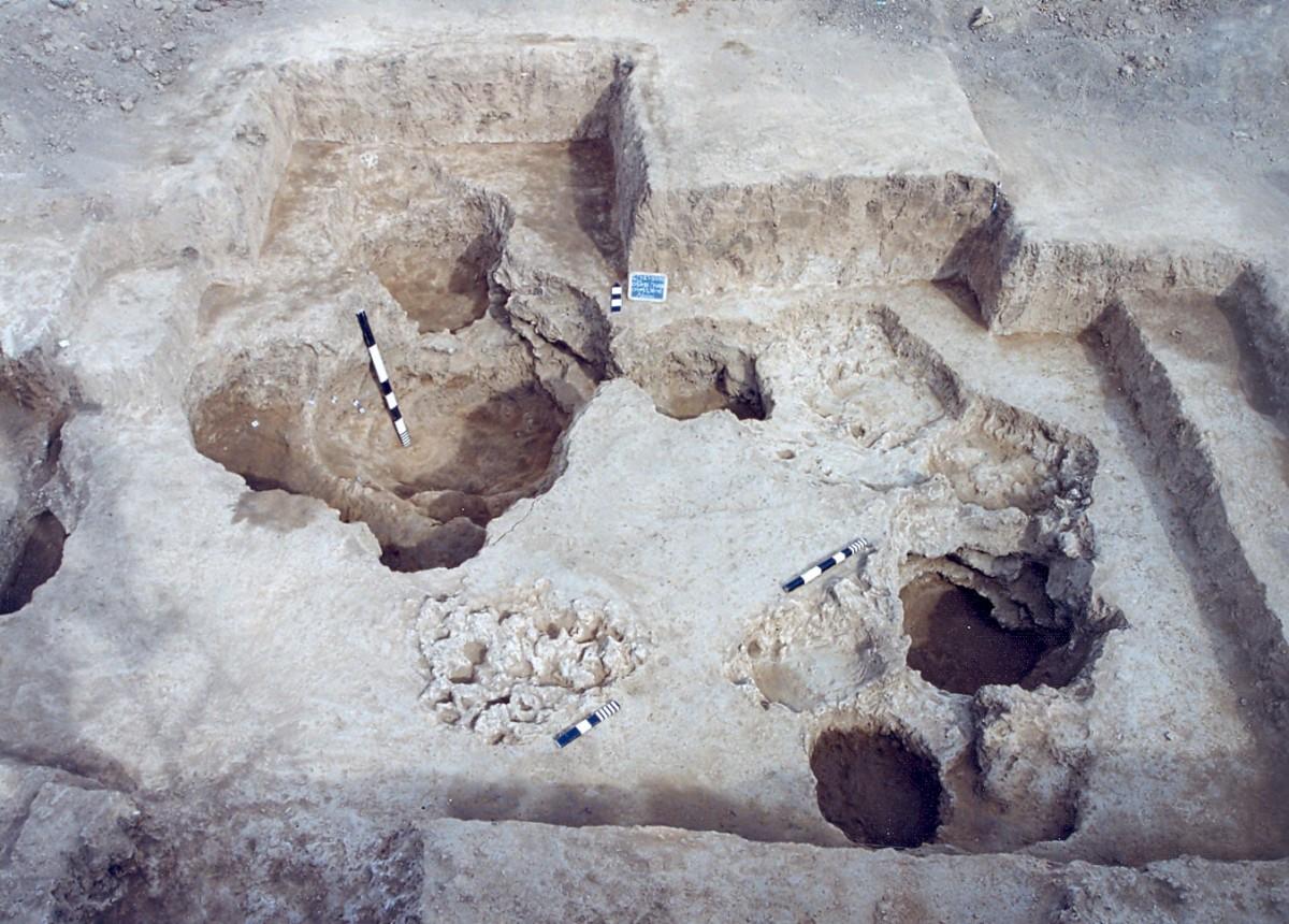 Εικ. 4. «Απορριμματικοί» λάκκοι στα βορειοανατολικά όρια του νεολιθικού οικισμού της Τούμπας Κρεμαστής Κοιλάδας.