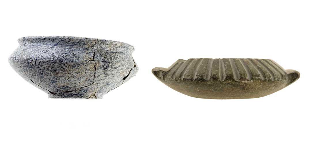 Εικ. 5. Λίθινα αγγεία από το νεκροταφείο του Πετρά.