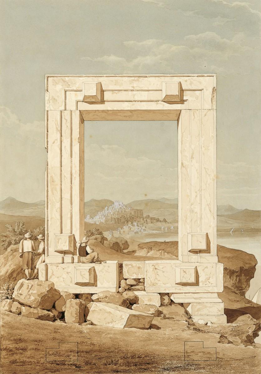 H «Πορτάρα» της Νάξου. Έργο του Thomas Hope (1769-1831).