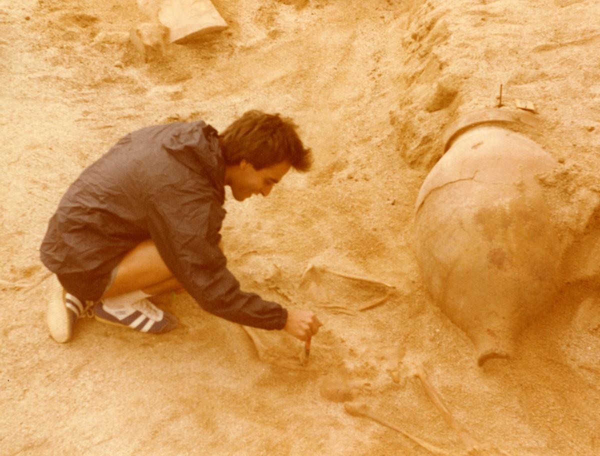 Νίκος Καλτσάς. Ανασκαφή στην Άκανθο, 1976.