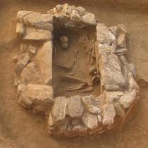 Μυτιλήνη: αποκαλύφθηκε λιθόκτιστος κιβωτιόσχημος τάφος