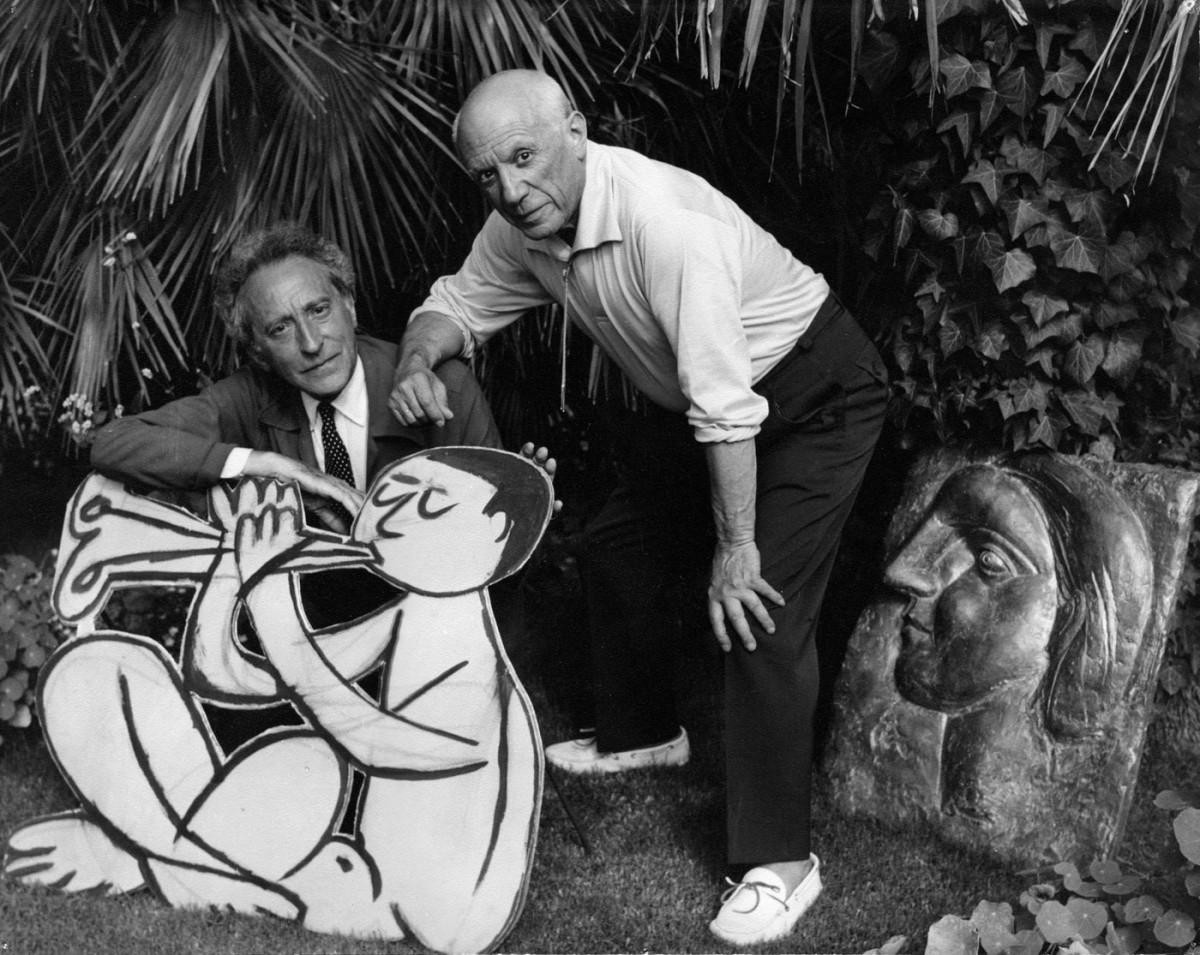 Ο Πάμπλο Πικάσο και ο Ζαν Κοκτώ.