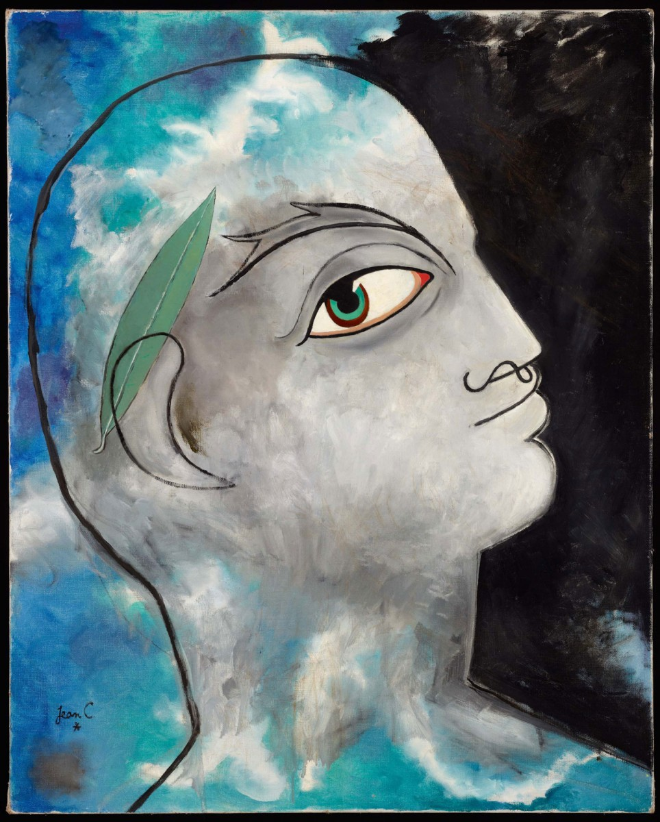 «Δαφνοστεφανωμένος Ορφέας», έργο του Ζαν Κοκτώ. 1951, 80x65 εκ.
