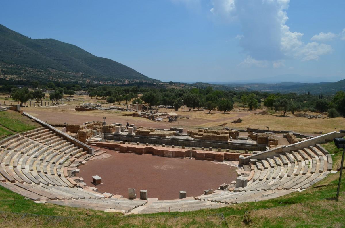 Αρχαία Μεσσήνη, γενική άποψη του Θεάτρου.