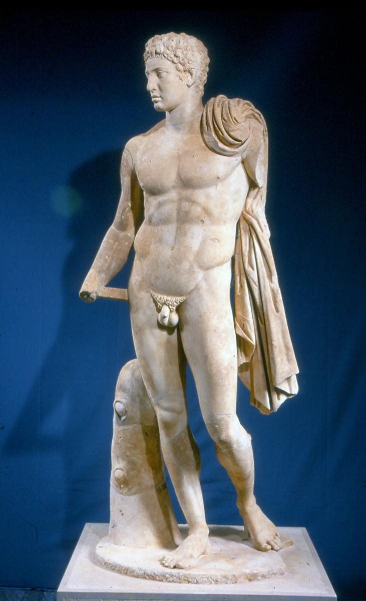 Αρχαία Μεσσήνη, το άγαλμα του Ερμή από το Γυμνάσιο.