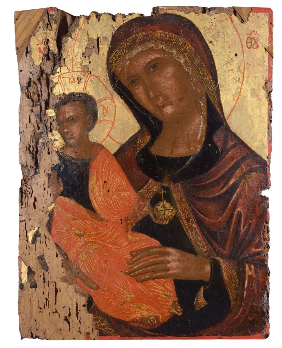 Παναγία Madre della Consolazione. Κρήτη, τέλη 16ου αιώνα. Συλλογή Βαλαδώρου, Μουσείο Μπενάκη.