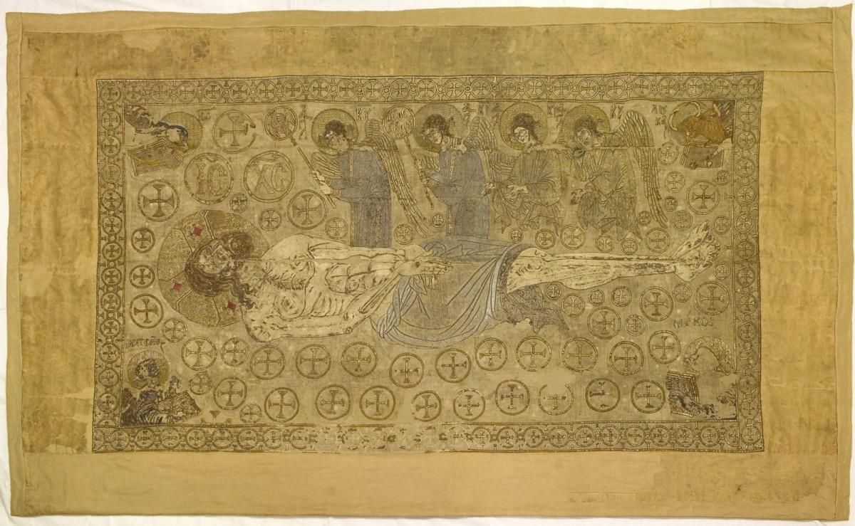 O επιτάφιος της συλλογής Βαλαδώρου. Αρχές 14ου αιώνα. Αρ. ευρ. 46343, 199x123 εκ.