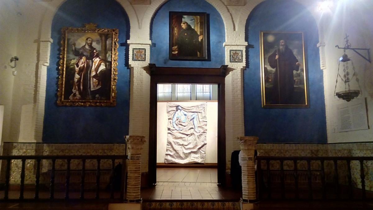 Έργο του Νίκου Φλώρου που παρουσιάζεται στην έκθεση «Φως στο Σκοτάδι» (φωτ. ΑΠΕ-ΜΠΕ).