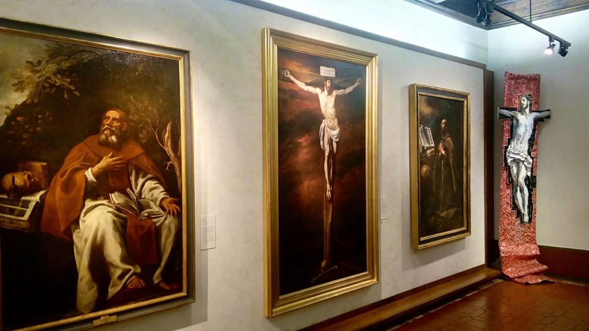 Ο Νίκος Φλώρος ανασύνθεσε κορυφαία έργα του Ελ Γκρέκο, χρησιμοποιώντας με σπάνια επιδεξιότητα ένα σύγχρονο υλικό, το χρωματιστό αλουμίνιο (φωτ. ΑΠΕ-ΜΠΕ).