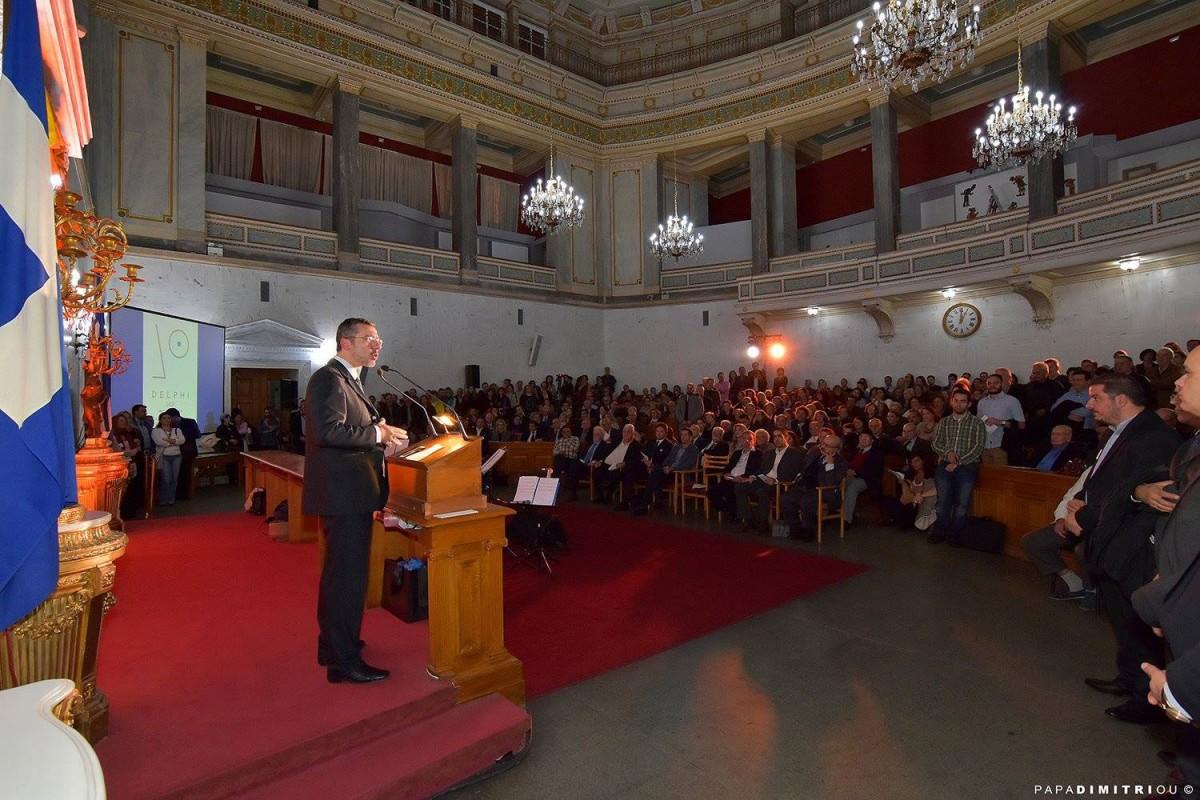 Την ανακοίνωση της υποψηφιότητας έκανε ο δήμαρχος Δελφών Θανάσης Παναγιωτόπουλος, σε ειδική εκδήλωση που πραγματοποιήθηκε στο Εθνικό Ιστορικό Μουσείο (Μέγαρο Παλαιάς Βουλής), στην Αθήνα.