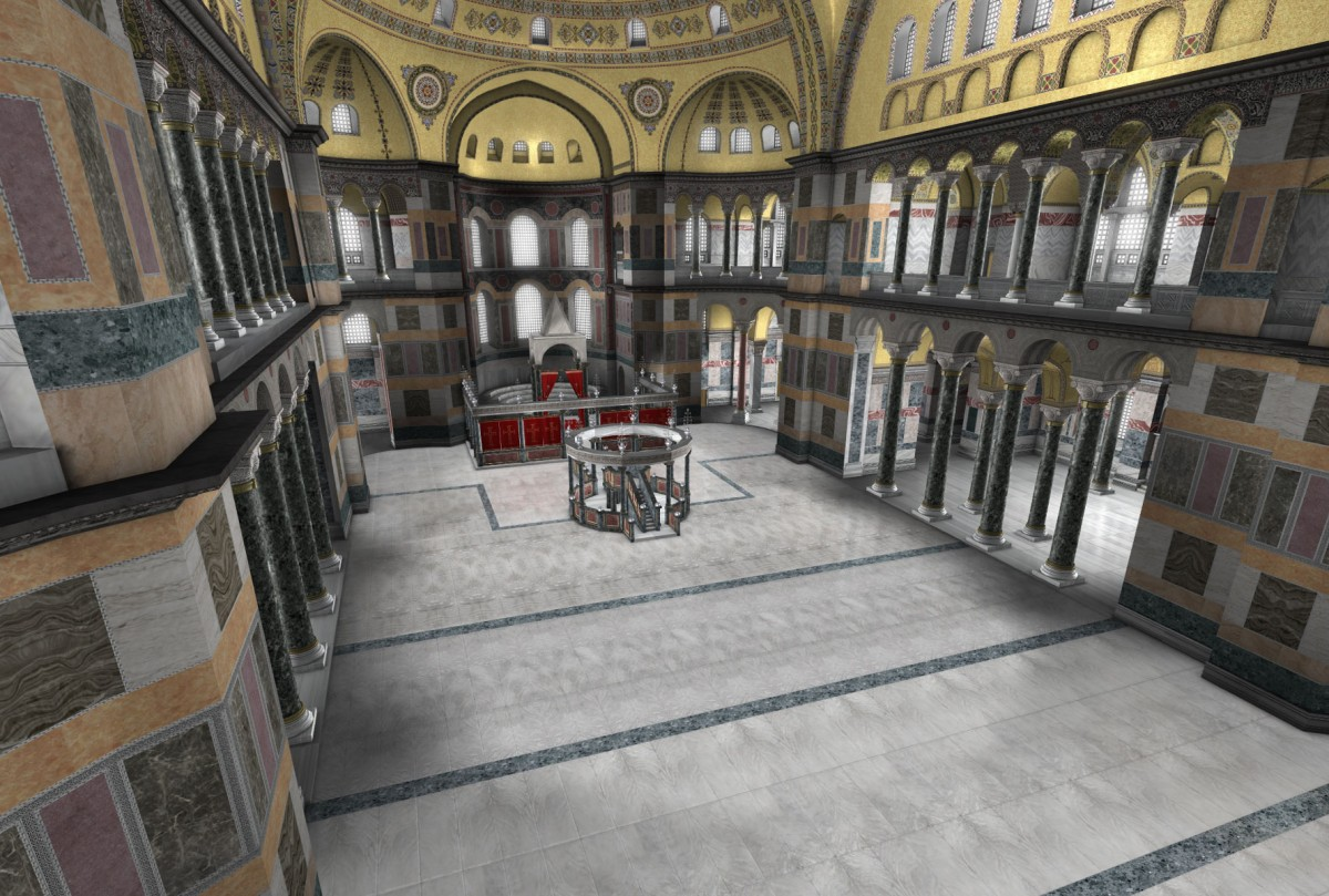Εικονική περιήγηση στο εσωτερικό της Αγίας Σοφίας.