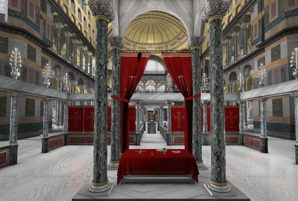 Στιγμιότυπο από τη νέα διαδραστική παραγωγή «Αγία Σοφία: 1.500 Χρόνια Ιστορίας», του Ιδρύματος Μείζονος Ελληνισμού.