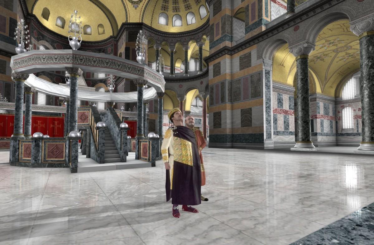 Στην ταινία αναπαρίστανται, με πλήρη λεπτομέρεια, το εσωτερικό του ναού, ο αρχιτεκτονικός του σχεδιασμός, ο γλυπτός και ψηφιδωτός διάκοσμος.