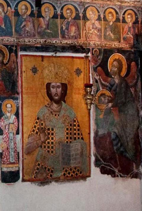 Λεπτομέρεια από το τέμπλο του ναού της Παρηγορήτισσας (Εφορεία Αρχαιοτήτων Άρτας).