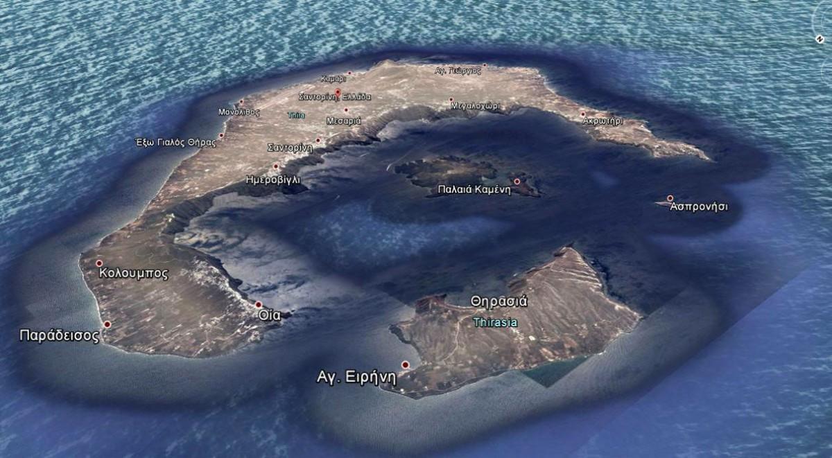 Εικ. 4. Λήψη από το Google earth (15-01-2014). Η απεικόνιση του Barskij προσεγγίζει σε μεγάλο βαθμό την πραγματικότητα.
