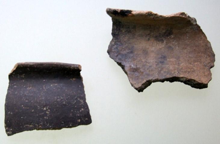 Εικ. 4. Δείγματα μονόχρωμης κεραμικής από την Κρύα. (Πηγή: αρχείο συγγραφέα)