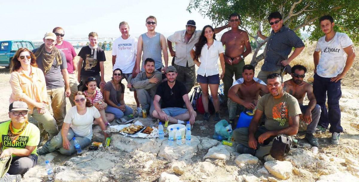 Η ομάδα του 2015 στο λόφο Φάμπρικα.