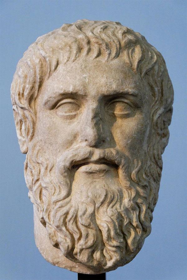 Προτομή του Πλάτωνα.