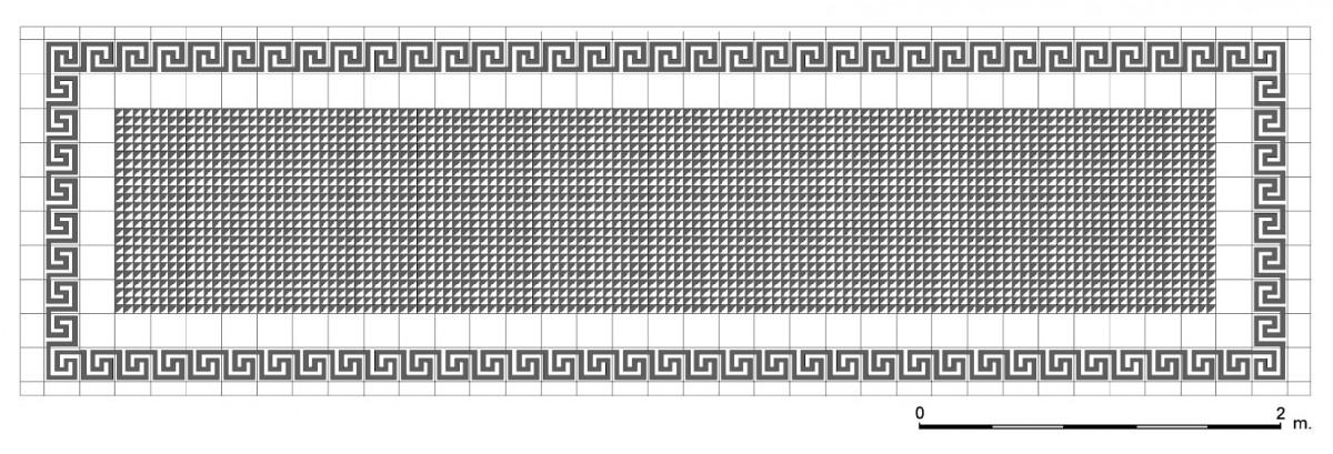 Εικ. 9. Σχεδιαστική απόδοση του δαπέδου του μπαλκονιού. (Σχέδιο Θ. Μακρή-Σκοτινιώτη)