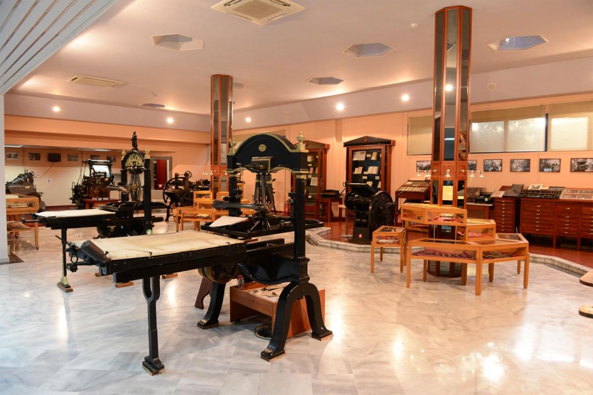 Μερική άποψη της Α' πτέρυγας του Μουσείου Τυπογραφίας στα Χανιά.