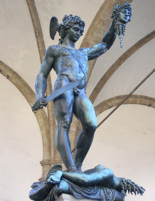 Εικ. 2. Benvenuto Cellini, Περσέας. Φλωρεντία, Loggia dei Lanzi.