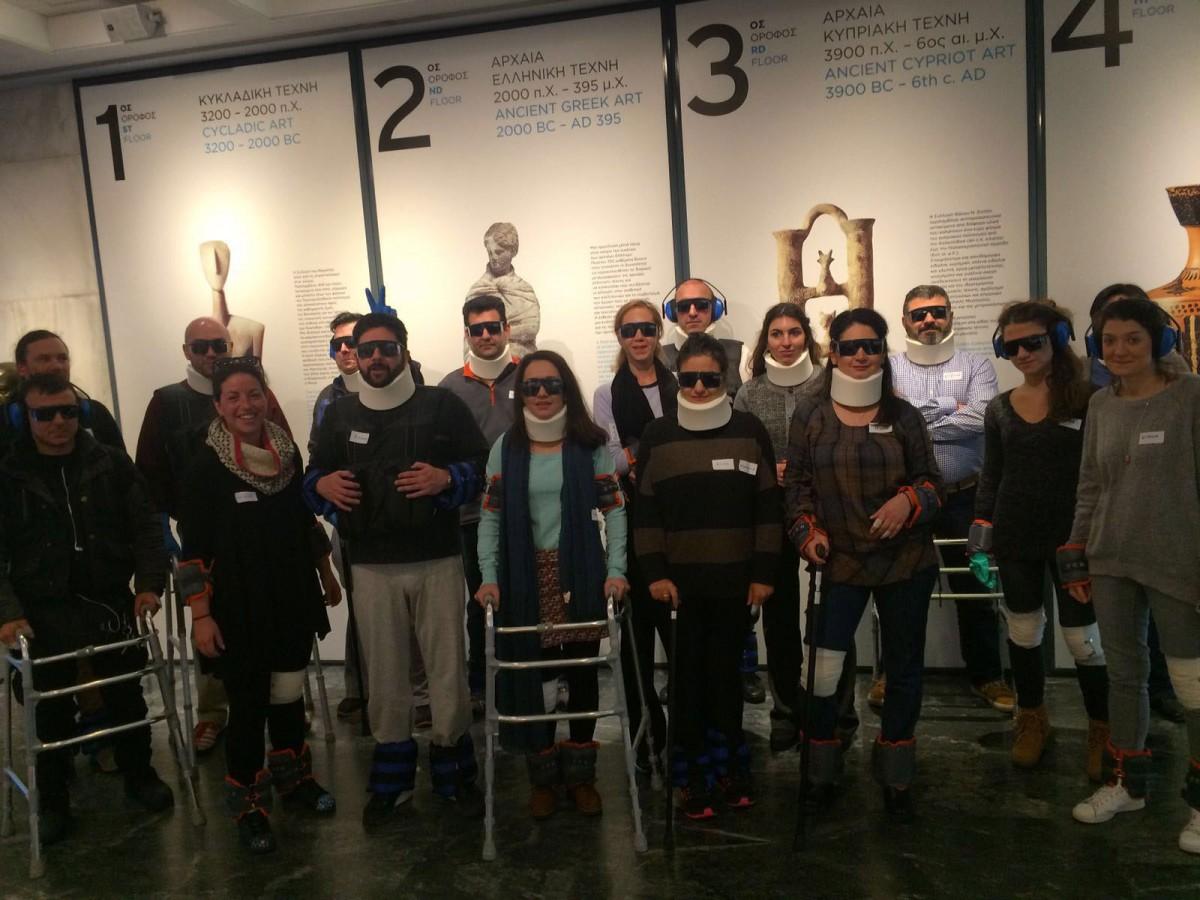 Το προσωπικό του Μουσείο πέρασε από ειδική βιωματική εκπαίδευση έτσι ώστε να μπορεί να φιλοξενήσει με τον καλύτερο τρόπο την ευαίσθητη αυτή κοινωνική ομάδα.