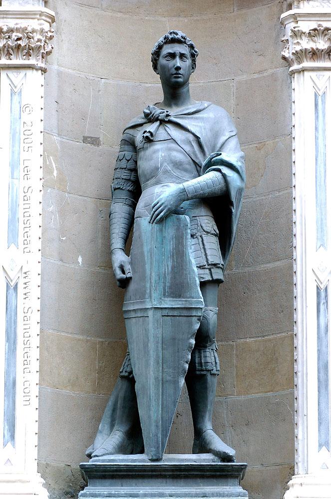 Εικ. 3. Donatello, Άγιος Γεώργιος. Φλωρεντία, Orsanmichele.