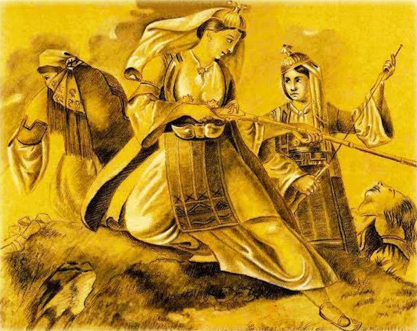 Πορτρέτα ανώνυμων Ελληνίδων, οι οποίες αγωνίστηκαν για την ελευθερία, αλλά και προσωπογραφίες γνωστών γυναικών της εποχής, που διέθεσαν την περιουσία τους στον αγώνα, πλαισιώνουν την έκθεση.