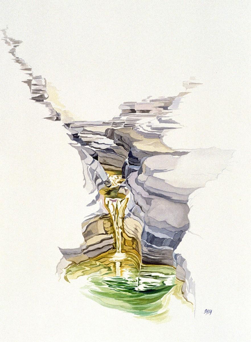Το έργο της Όλγας Αναστασιάδου φέρει την ευαισθησία του απαιτητικού μέσου της υδατογραφίας, όπως διαμορφώνεται μέσα από τη προσωπική εικαστική της ματιά.