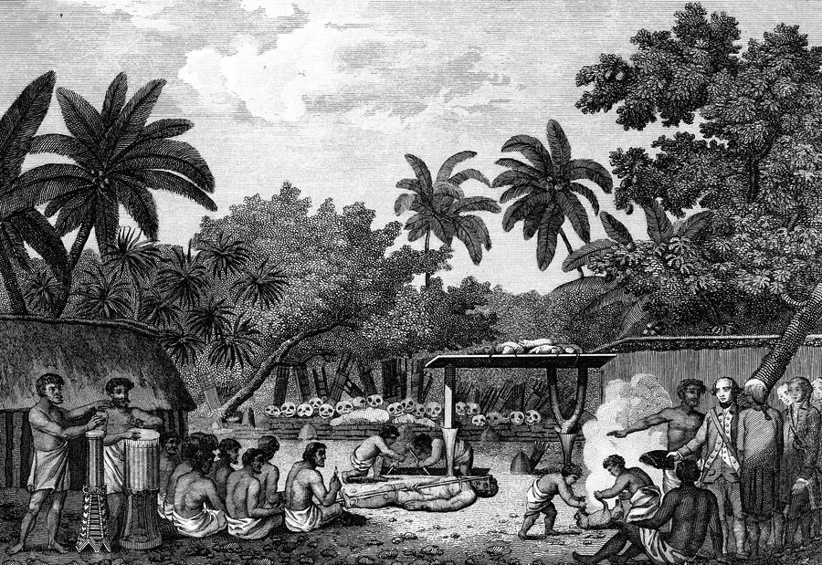 Ανθρωποθυσία στην Ταϊτή. Εικόνα από τα