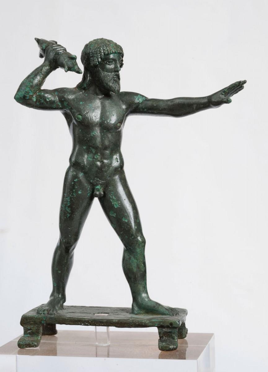 Χάλκινο ειδώλιο Διός Κεραύνιου από τη Δωδώνη. ΕΑΜ 16546, 470-460 π.Χ.