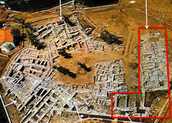 Άποψη της ανασκαφής στην Αγία Ειρήνη Κέας.