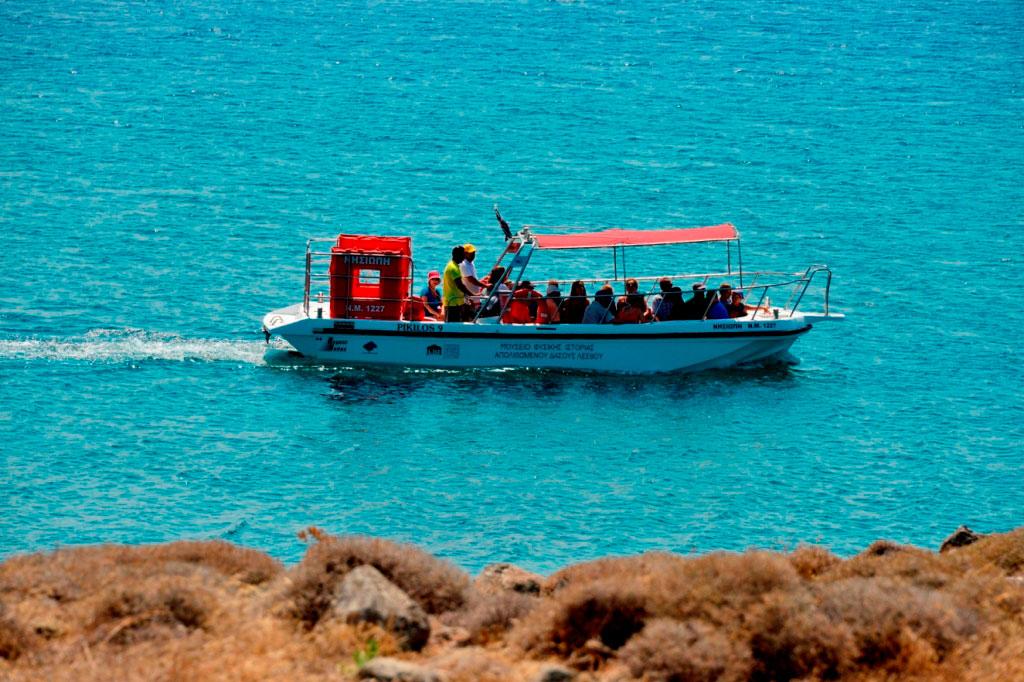 Πάρκο Νησιώπης: Θαλάσσια διαδρομή με σκάφος με γυάλινο πυθμένα.