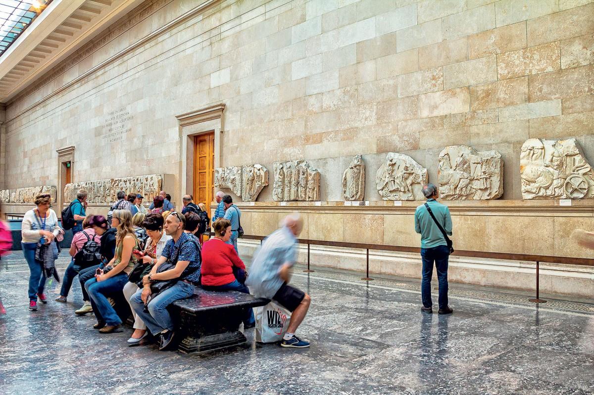 Τα γλυπτά του Παρθενώνα στο Βρετανικό Μουσείο (φωτ. ΑΠΕ-ΜΠΕ).