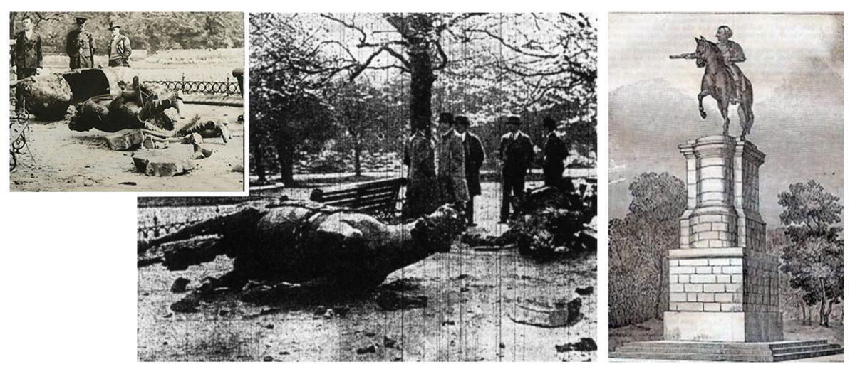 Εικ. 5. Το μνημείο του βασιλιά George II (1758) καταστράφηκε ύστερα από βομβιστική επίθεση στις 13 Μαΐου του 1937. Γλύπτης: John van Nost ο Νεότερος (1713-1780).