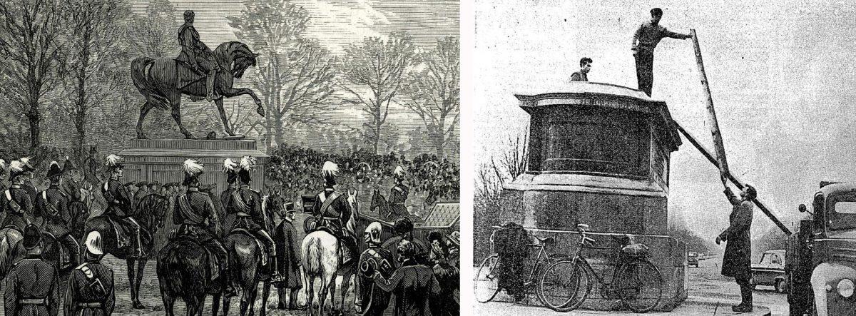 Εικ. 7. Το μνημείο του ιρλανδικής καταγωγής αξιωματικού του βρετανικού στρατού Marshal Gough (1880) απομακρύνθηκε μετά το βανδαλισμό του, το 1957. Γλύπτης: John Henry Foley (1779-1869).