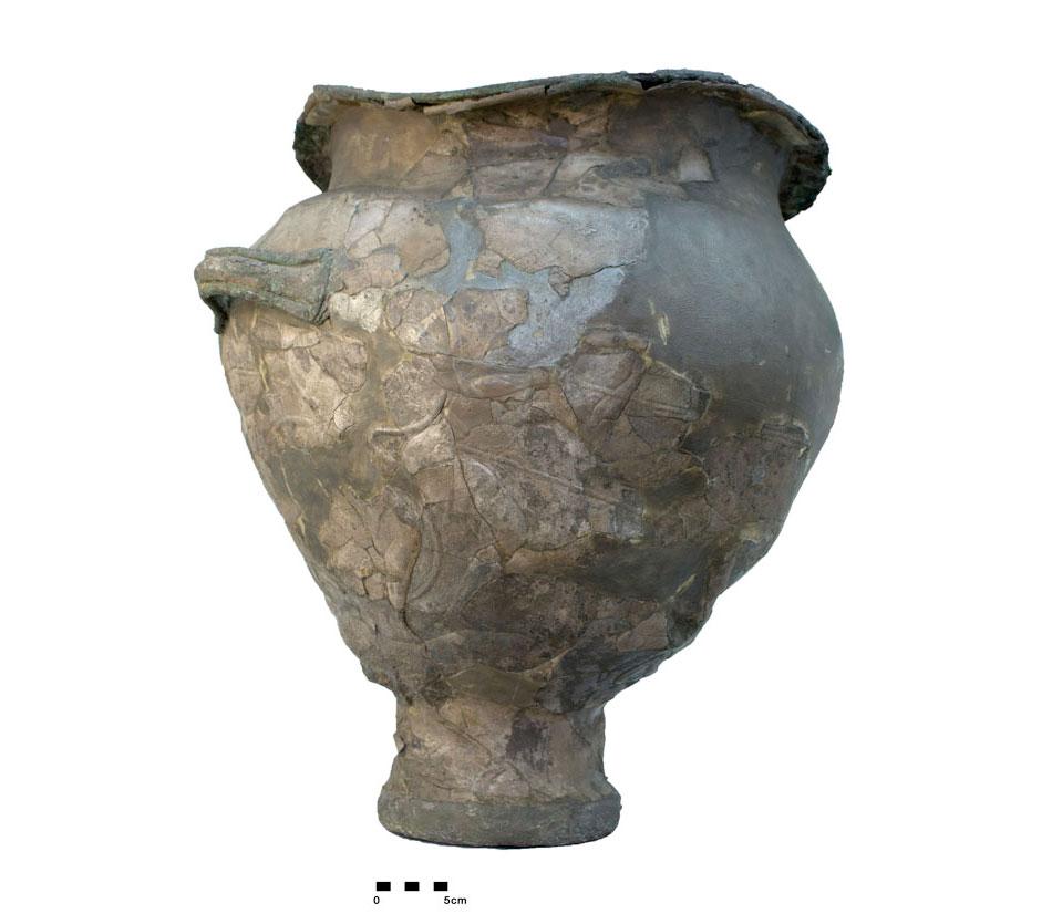 Ο Κρατήρας της Μάχης, από τον τάφο IV του ταφικού Κύκλου Α των Μυκηνών. Εθνικό Αρχαιολογικό Μουσείο, Αθήνα.