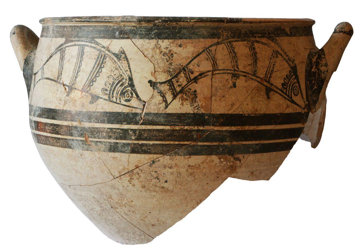 Μυκηναϊκός κρατήρας (φωτ. Τμήμα Αρχαιοτήτων Κύπρου).