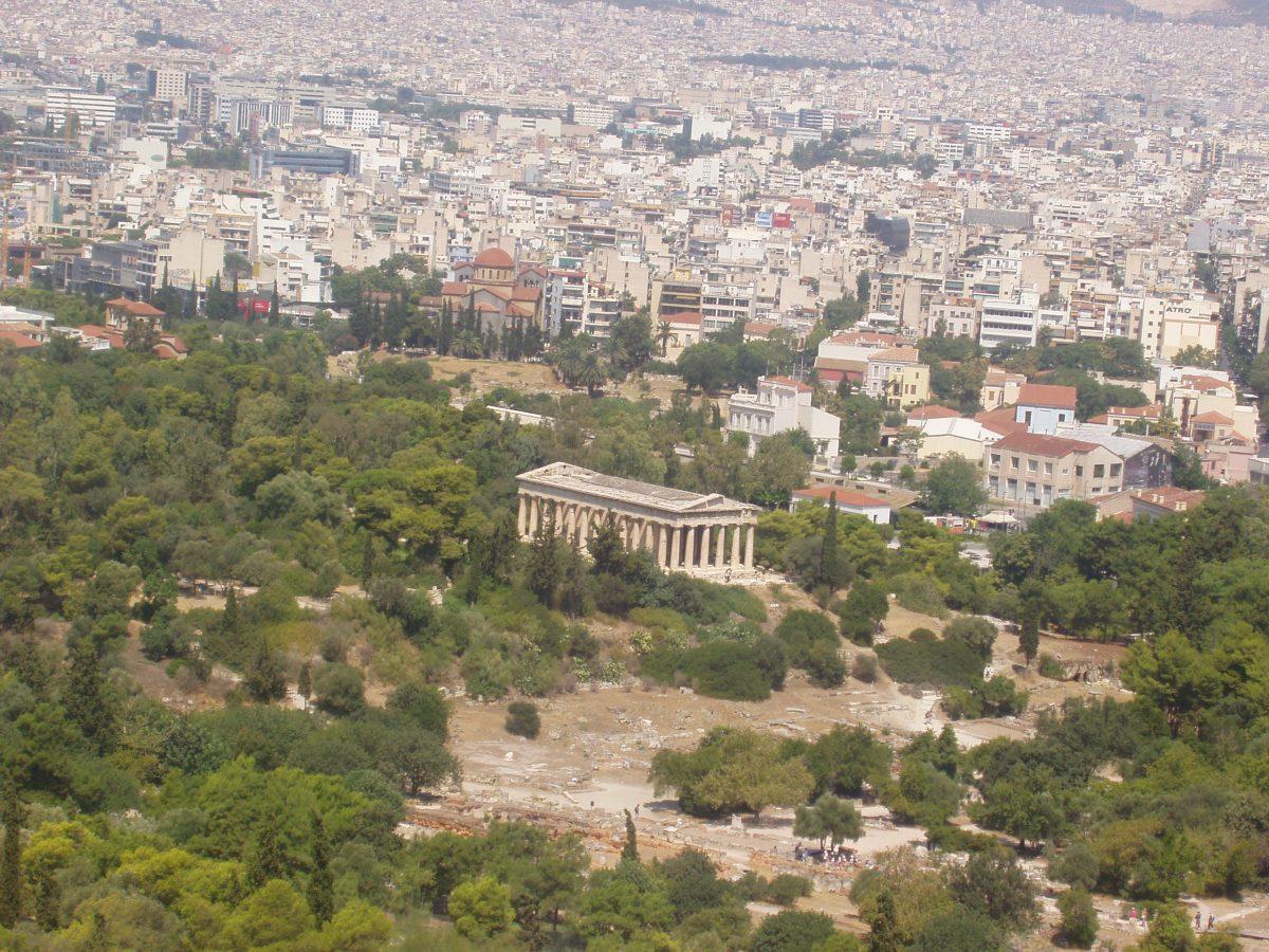 Ο Ναός του Ηφαίστου (Θησείο) στην Αθήνα.