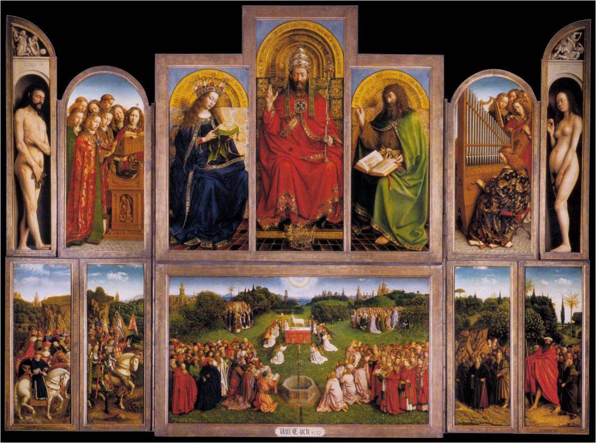 Εικ. 3. Jan Van Eyck, «Το πολύπτυχο της Γάνδης», 1432. Καθεδρικός του Αγ. Bavo.
