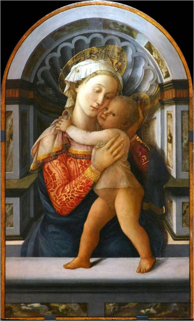 Εικ. 5. Fra Filippo Lippi, «H Παναγία με το βρέφος», π. 1459. Palazzo Medici-Riccardi, Φλωρεντία.