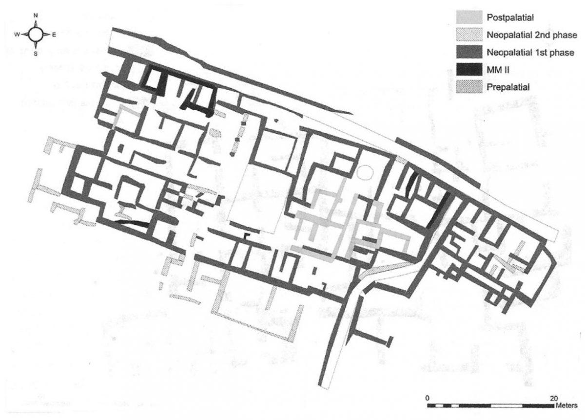 Εικ. 1. Κάτοψη της «Οικίας Έψιλον» στα Μάλια (Driessen 2010, fig. 3.8).