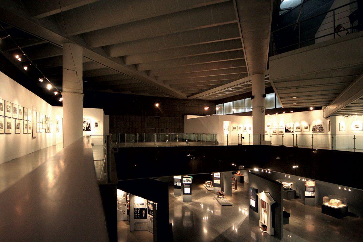 Άποψη των εκθεσιακών χώρων του Τελλογλείου Ιδρύματος Τεχνών ΑΠΘ.
