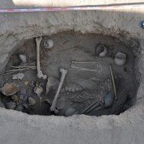 Σκελετός 2.800 ετών, με σάβανο από κάνναβη