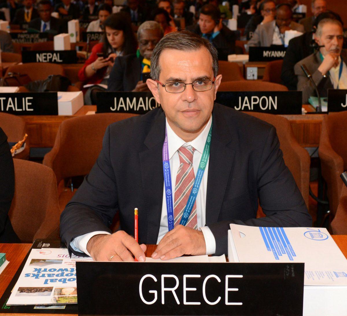 Ο Πρόεδρος της Διοικούσας Επιτροπής του Παγκόσμιου Δικτύου Γεωπάρκων UNESCO, Νίκος Ζούρος.