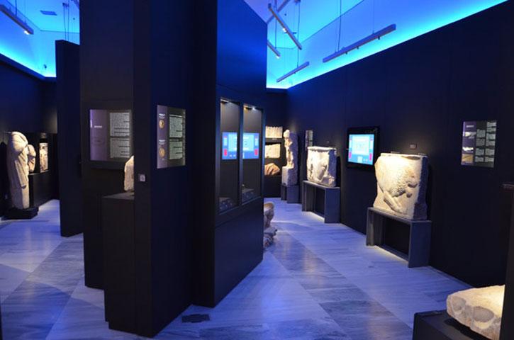 Άποψη της έκθεσης του Αρχαιολογικού Μουσείου Τεγέας.