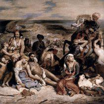 Ο Ντελακρουά με τον χρωστήρα του στο πλευρό της Ελλάδας